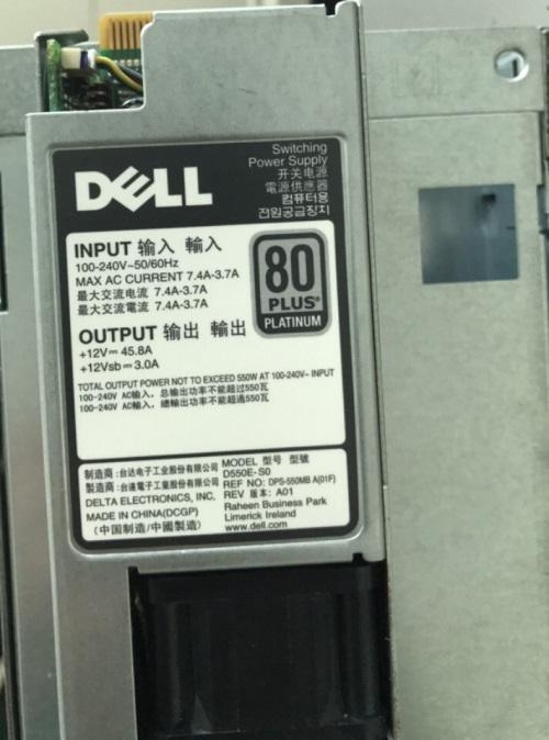 Bộ nguồn Dell PowerEdge 550W 80 Plus Platinum 0RYMG6